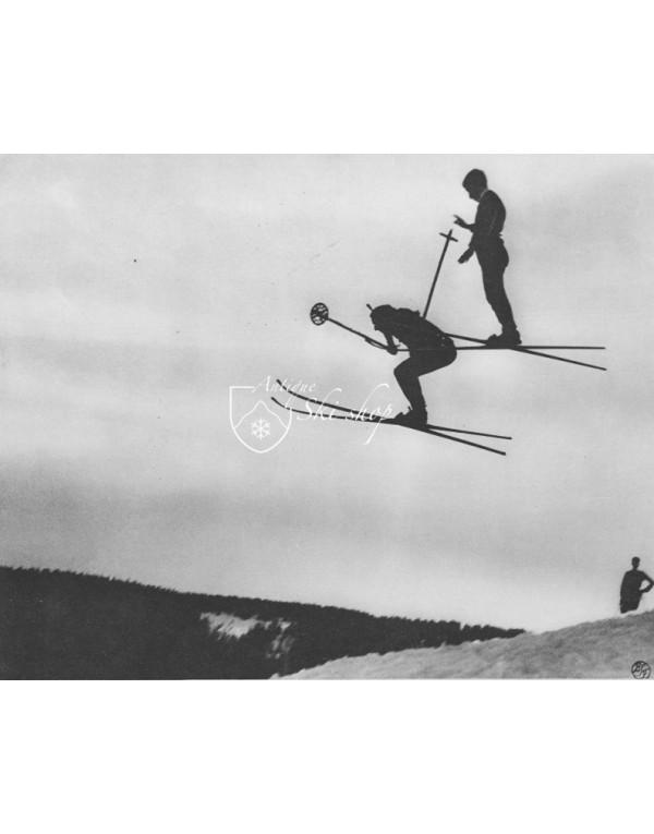 "Vintage Ski Photo - ""Ski Jump"" Hans Schneider"