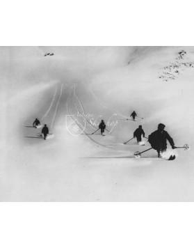 Vintage Ski Photo - Powder Schuss