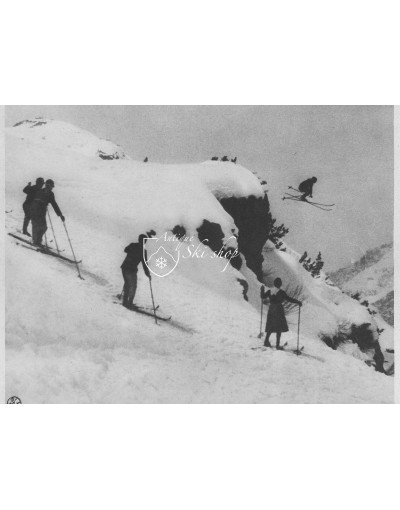 Vintage Ski Photo - Hans Schneider Ski Jump