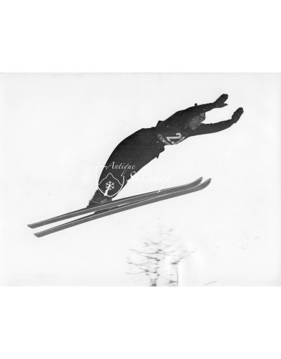 Vintage Ski Photo - Ski Jumper in Cortina