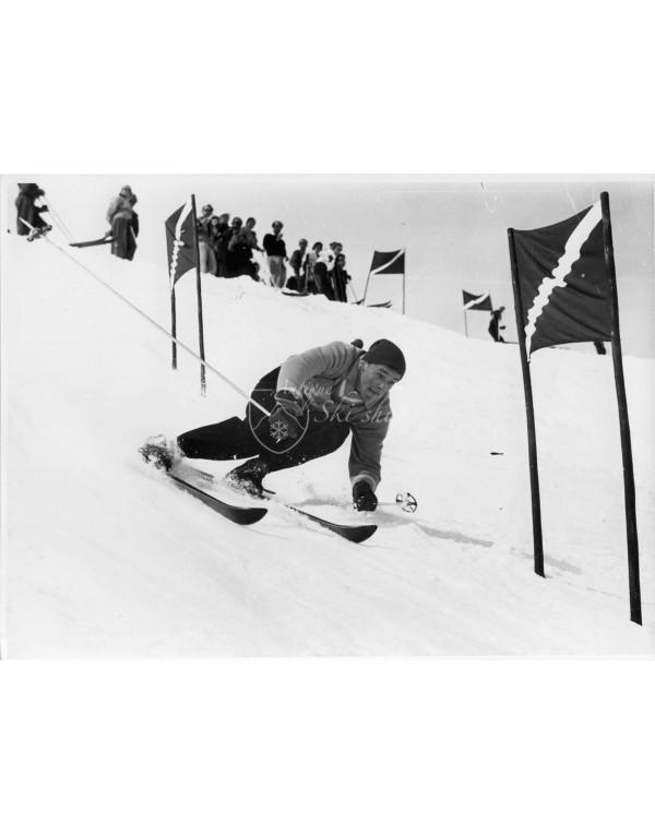 Vintage Ski Photo - Egon Zimmermann