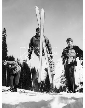 "Vintage Ski Photo - Toni Sailer ""Tips Up"""