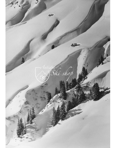 Vintage Mountain Photo - Farm House in Arlberg