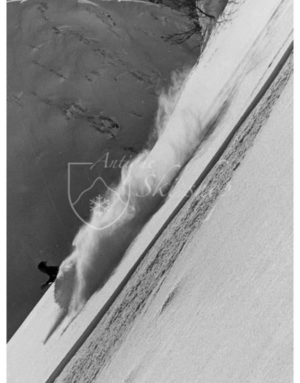 "Vintage Ski Photo - Powder Skiing ""Steep & Deep"""