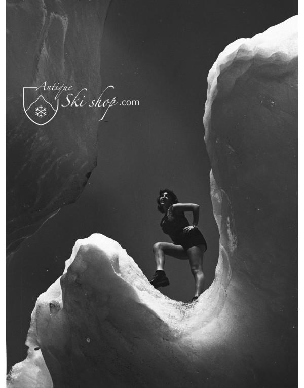 Vintage Ski Photo - Glacier Girl