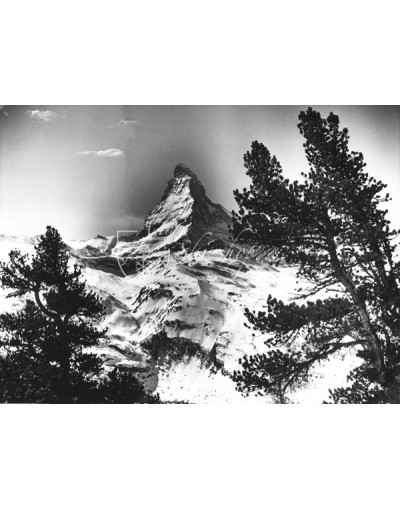 Vintage Mountain Photo - The Matterhorn