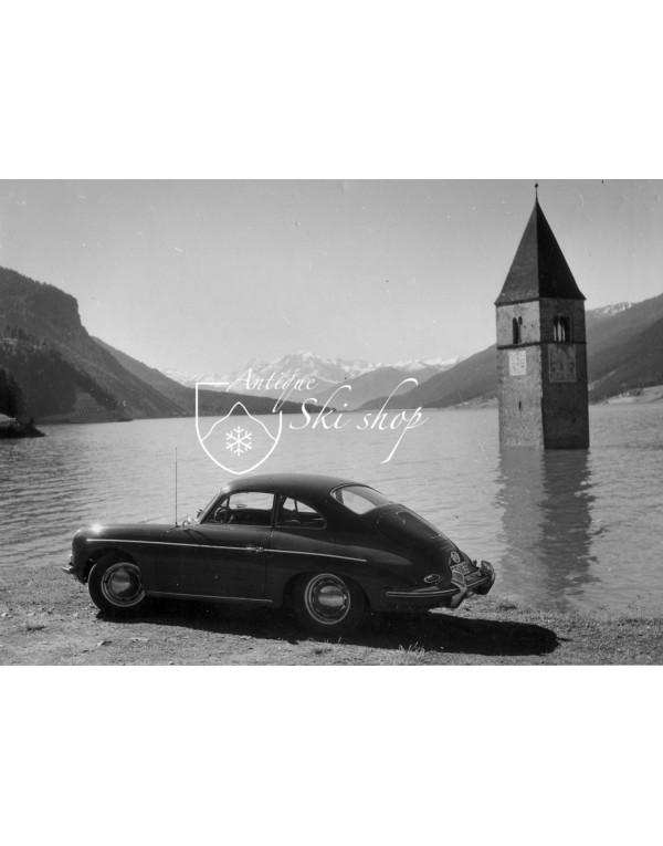 Vintage Car Photo - Porsche 356 by the Reschensee