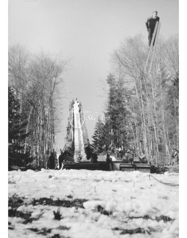 Vintage Ski Photo - Ski Jumping