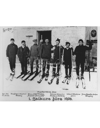 Vintage Ski Photo First Ski Lesson