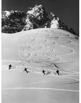 Vintage Ski Photo - Roten Teufel 1