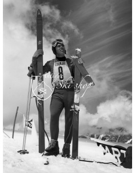 Vintage Ski Photo - Broken Ski