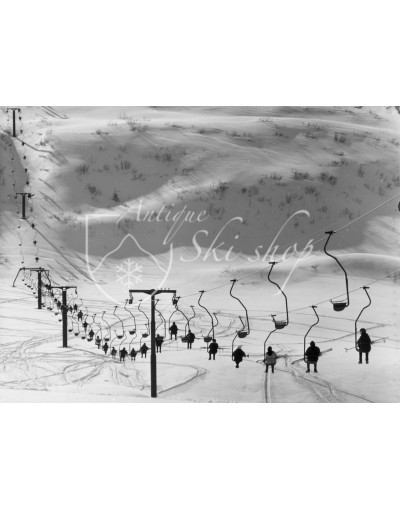 Vintage Ski Photo - Single Chairlift