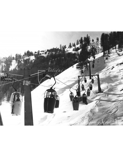Vintage Ski Photo - Gondola Livigno