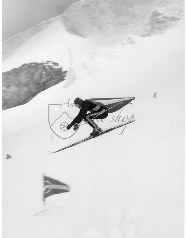 Vintage Ski Photo - Speed Skiing