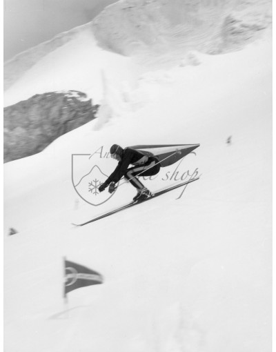 Vintage Ski Photo - Speed Skiing