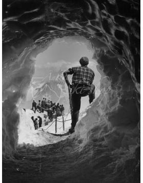 Vintage Mountain Photo - Ice Cave