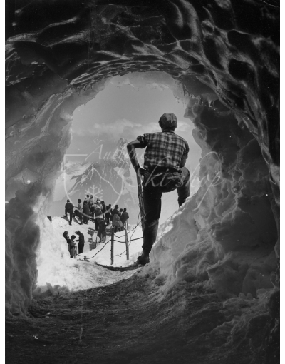 Vintage Mountain Photo - Ice Cave