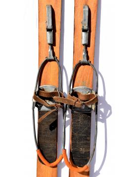 Antique Children Skis & Poles