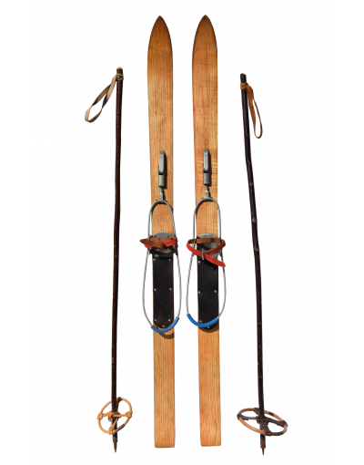 Vintage Children Skis & Poles