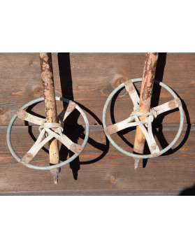 Vintage Hickory Ski Poles