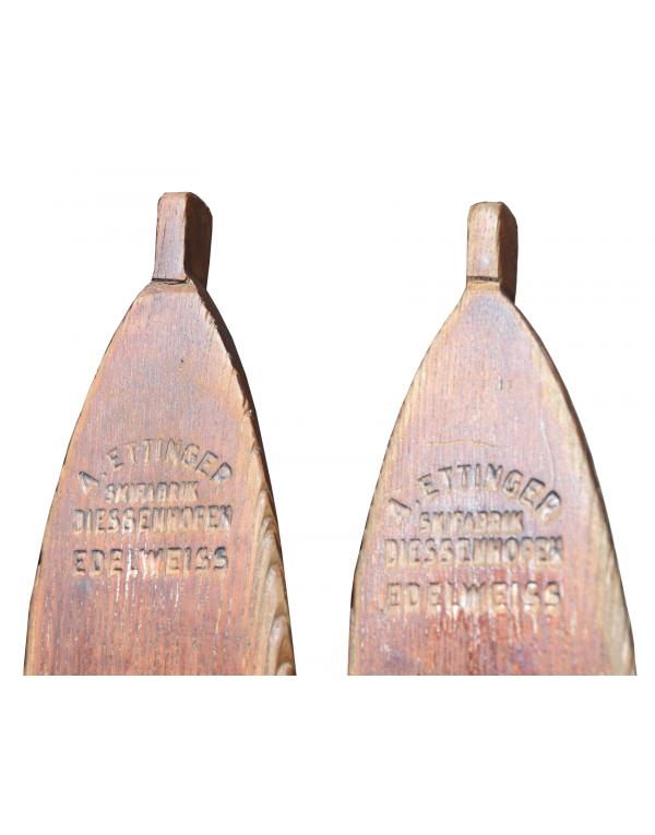 "Vintage Swiss A. ETTINGER ""EDELWEISS"" Skis"