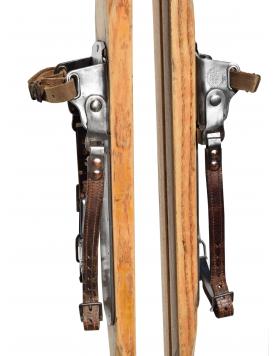 "Antique Staub's ""ALPINA"" Skis  (Fully Restored)"