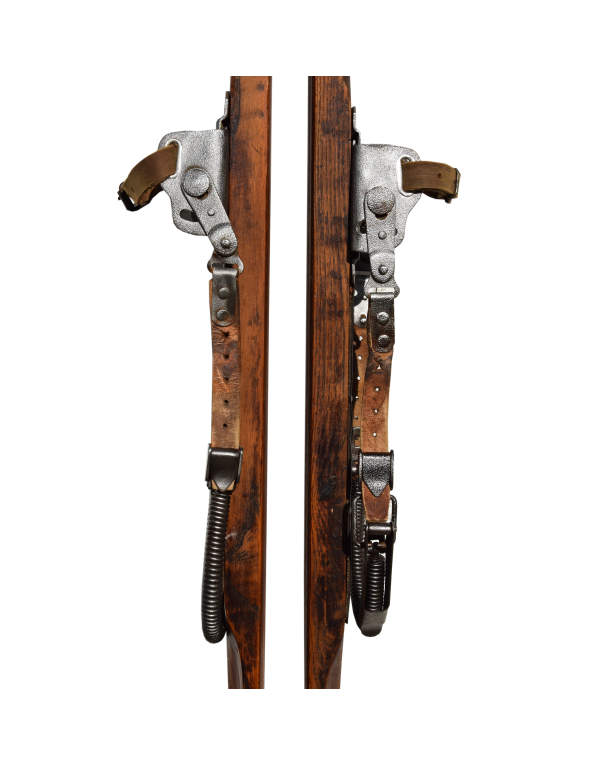 Vintage 1940 Skis (Fully Restored)