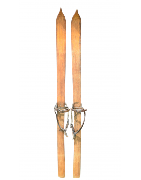 Rare 1920 Vintage children skis