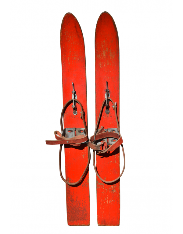 "Vintage children ""First Skis"""