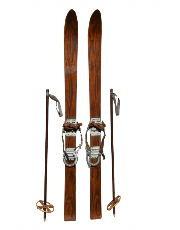 Vintage Children Skis & Poles