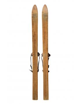 "Antique ""REKORD"" Children Skis & Poles"