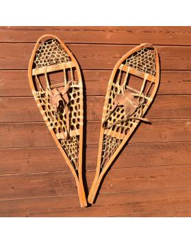 """Antique """"TORPEDO"""" Snowshoes / Raquettes a neige Vintage / Vintage Schneeschuhe"""