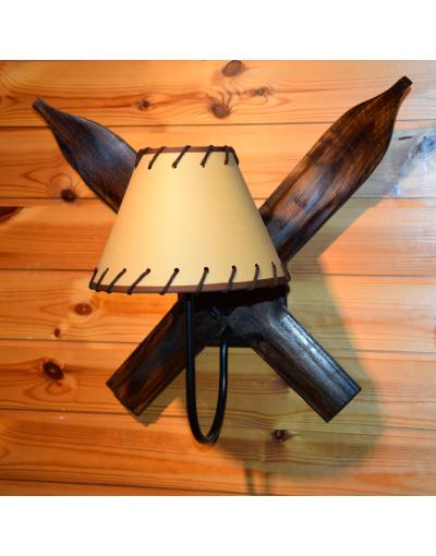 Vintage Ski Sconce - Wall Lamp / Applique Ski / Ski Wandleuchte