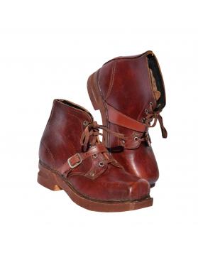 """Wooden Soles"" 1930's Children Ski Boots"