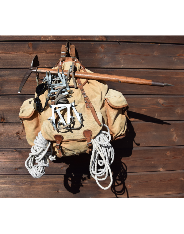 Vintage Mountaineering Rucksack & Climbing Gear