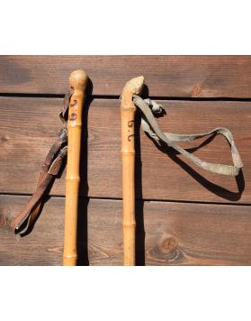 1940's Vintage Bamboo Ski Poles