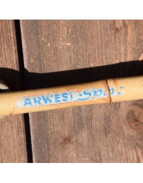 "1950's Vintage ""ARWESI SPORT"" Bamboo Ski Poles"