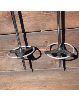 1960's Antique Metal Ski Poles
