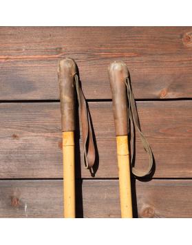 1940's Antique Bamboo Ski Poles