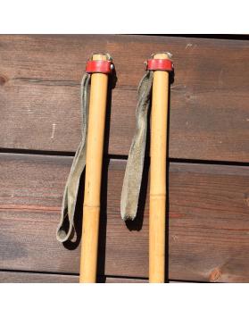 Vintage Bamboo Ski Poles