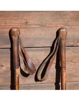 1930's Antique Hickory Ski Poles