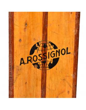 "Vintage Rossignol ""Derby"" Hickory Skis (Unrestored)"