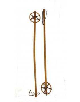 Antique ski poles