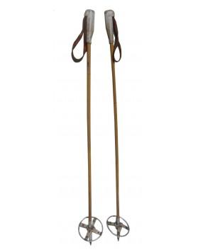 Antique children ski poles