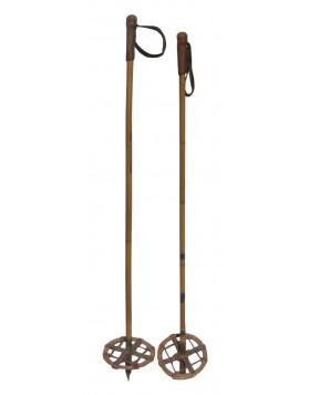 Antique ski poles