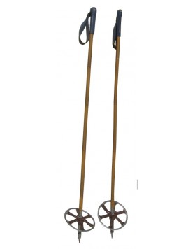 "Antique ""Swiss Military"" ski poles"