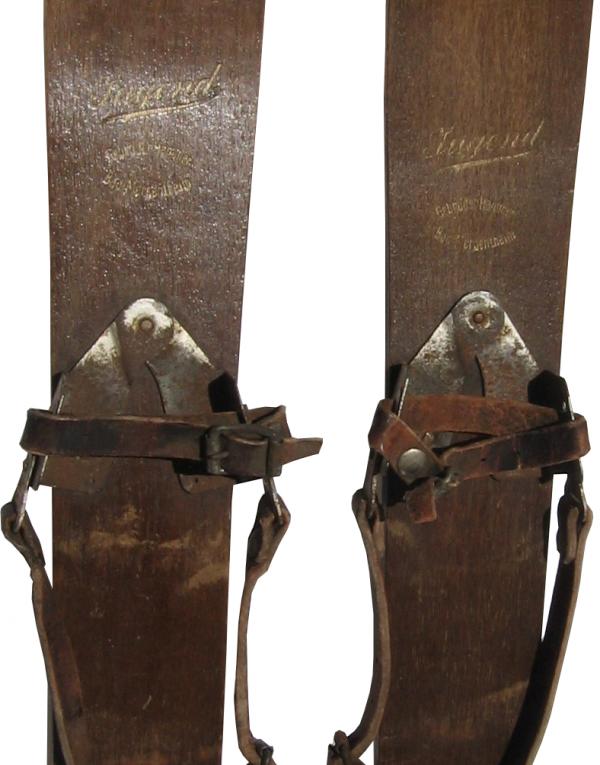 """Antique """"Gebrüder Hammer"""" Childrens Skis (Non Restored)"""