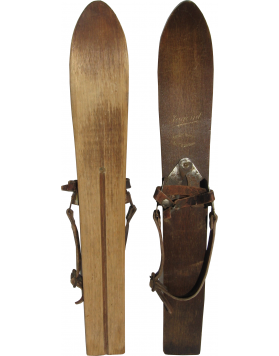 "Antique ""Gebrüder Hammer"" Childrens Skis (Non Restored)"