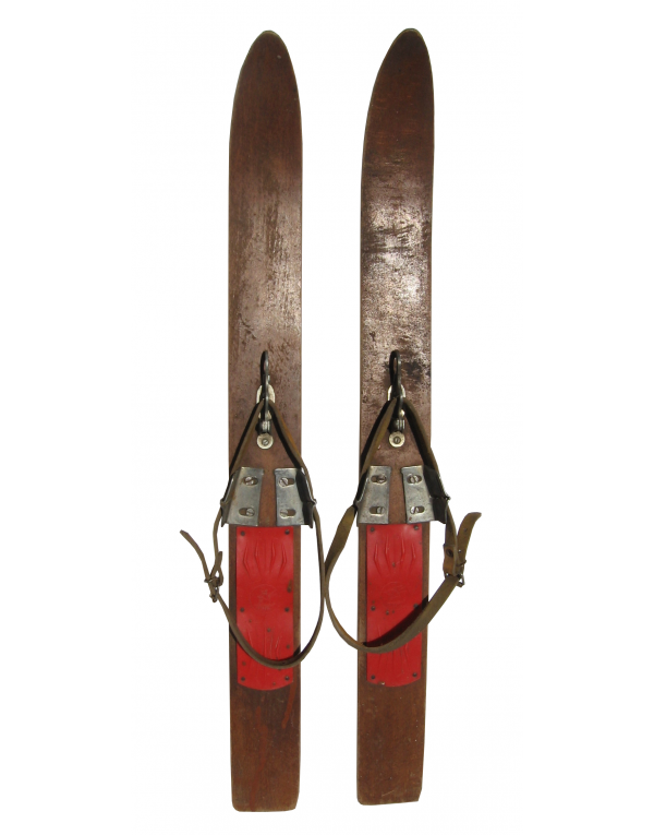 Antique Children's Skis (Non Restored)