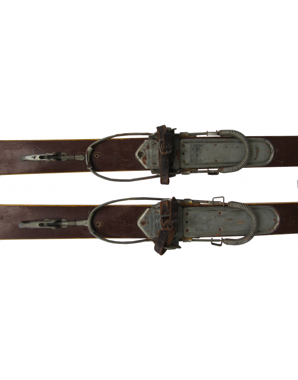 "Antique ""SWISS"" Skis (Non Restored)"
